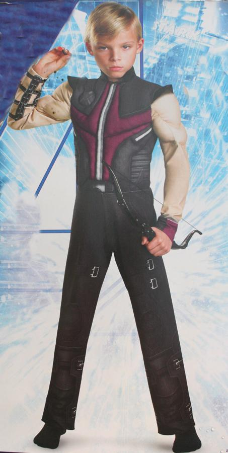 Free shipping ,high quality children muscle Hawkeye costume The Avengers superhero clothes haw-keye costume