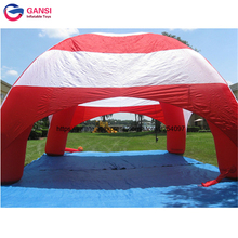 купить Outdoor Car Inflatable Canopy Kids Play Car Stop,6 Spider Pillars Inflatable Dome Tent онлайн
