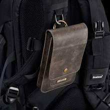 وضع اثنين من الهاتف المحمول الحقيبة الخصر معلقة لجميع الهواتف Coque آيفون حالة الخصر حزمة أغطية جلدية فاخرة شل اكسسوارات حقيبة