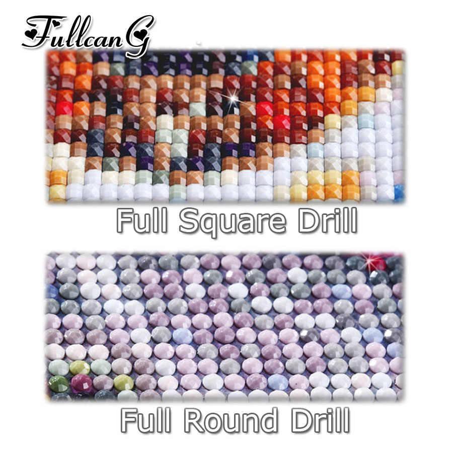 FULLCANG pieno quadrato/rotondo trapano fai da te pittura diamante luna animali vita di grandi dimensioni 5d ricamo mosaico punto croce kit FC425