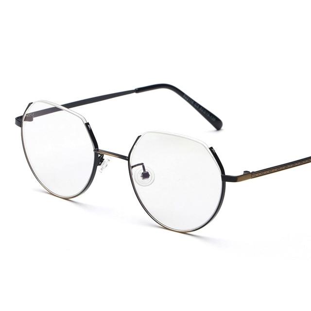 e8a862df6f70 Specjalne Przycięte Top Okrągły Vintage Retro Metalowe Oprawki Pełne  Spektakl Okulary Optyczne okulary Korekcyjne OKULARY