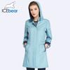 ICEbear 2018 damski płaszcz wysokiej jakości jesień i wiosna długie Trench płaszcz dla kobiet wiatrówka Hat odłączany 17G116D