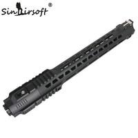 SINAIRSOFT New Style Hunting Picatinny Rail 14''/17'' HandGuard Rail System Black for Airsoft AEG M4/M16 Free Shipping