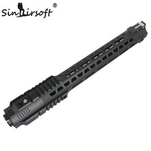 Free Float Slim Handguard Endelstångsbanksystem KeyMod Light För AR-15 Black With Barrel Nut