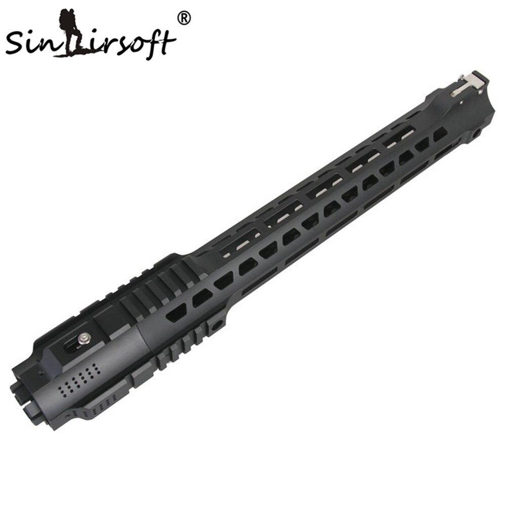 SINAIRSOFT nouveau Style chasse Picatinny Rail 14 ''/17'' système de garde-corps noir pour Airsoft AEG M4/M16 livraison gratuite