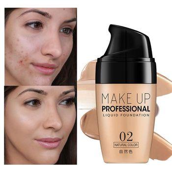 3 Colors Face Foundation Cream Waterproof Long-lasting Concealer Liquid Professional Makeup Full Coverage Matte Base Make Up