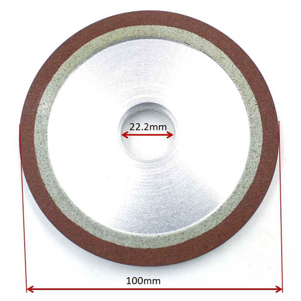 2 Pcs ID 22.2mm Abrasive Disc Degree Diamond Wheel PDX 100mm For Saw Blade Grinding Burr Tungsten Carbide Rotary Tools