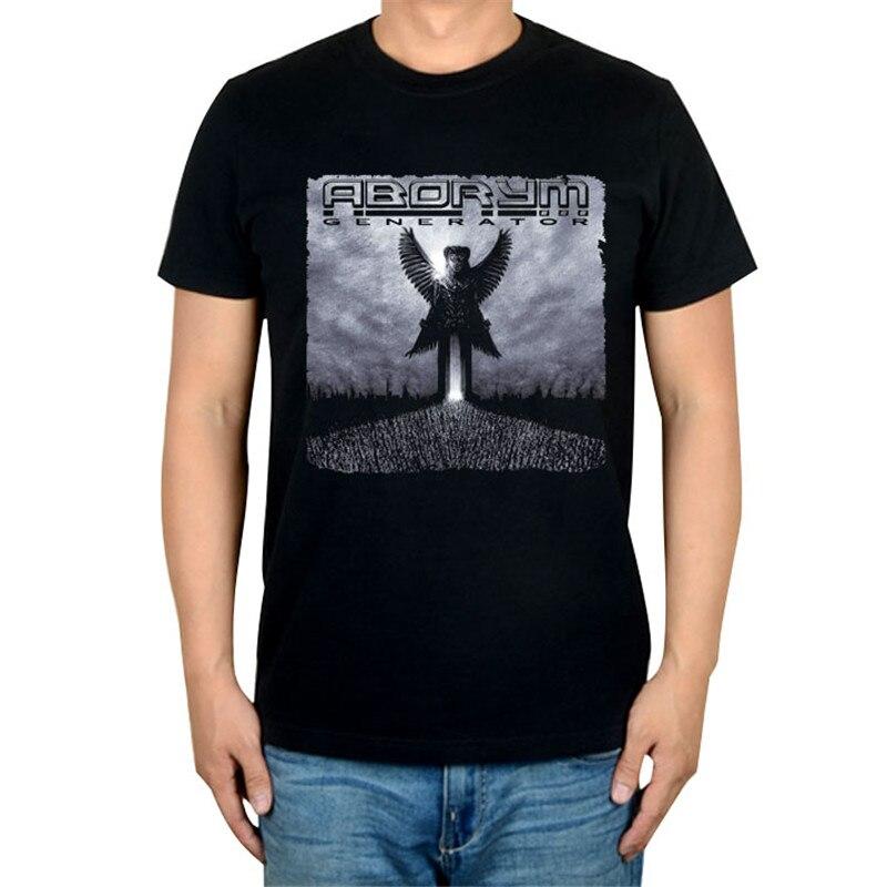 6 дизайнов, Летний стиль, ABORYM, панк-рок, брендовая черная футболка, 3D mma camiseta, фитнес, хлопок, футболка с тяжелым металлическим принтом, футболки - Цвет: 4