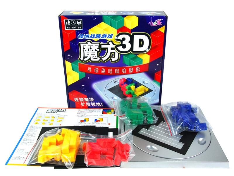 Candice guo! Jouet en plastique éducatif 3D cube magique carré Tetris capacité de pensée spatiale enfants enfants anniversaire cadeau de noël