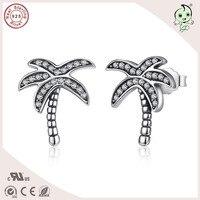 Best Selling Coconut Tree Design S925 Sterling Silver Tree Earring