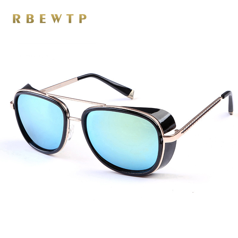 2018 NEW IRON MAN 3 Matsuda TONY Steampunk Pilot Sunglasses Men/Women Mirrored Designer Brand Glasses Vintage Sun glasses C-61