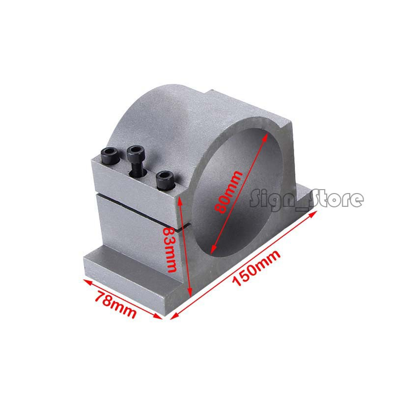 Spindle clamp Dia 80mm aluminum mounts fixture chuck bracket holder hold seat fastening DIY CNC Router 1.5KW or 2.2KW spindle