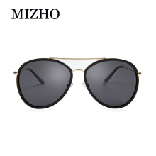 цена MIZHO Blue Real Visual Purple Polarized Women Sunglasses Pilot Flash Mirrored UV Protection Eyewear Men Pilots Sun Glasses 2019
