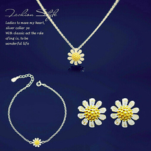 Rainbow Jewelry brand selling necklace Christmas gift,The best gift to relatives,Lovely Daisy 925 Sterling Silver necklace