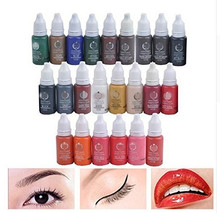 23Pcs Ink Permanent Makeup Pigment 15Ml Cosmetic 23 Color Tattoo Ink Set Paint For Microblading Eyebrow Lip Body Makeup