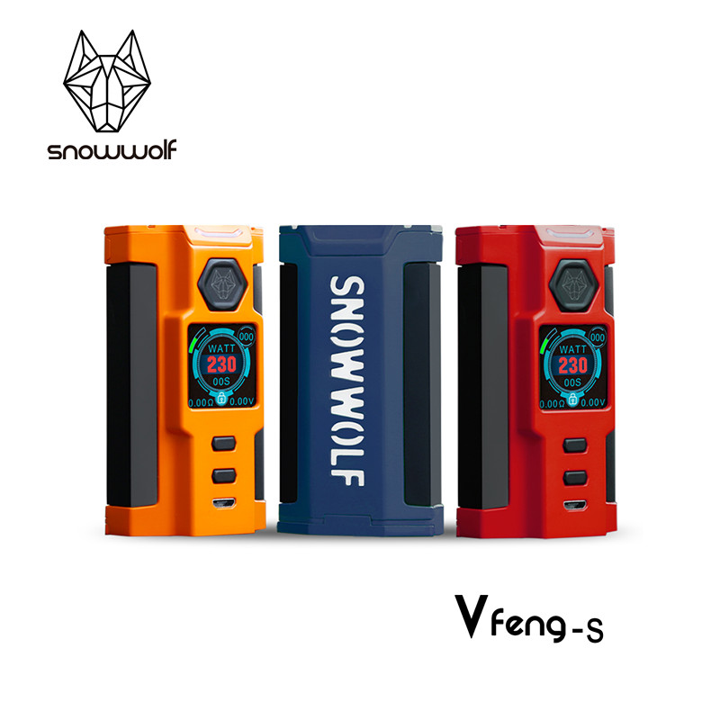 2017 100% Authentique vaporisateur mod Snowwolf Vfeng-S mod cigarette électronique 230 w