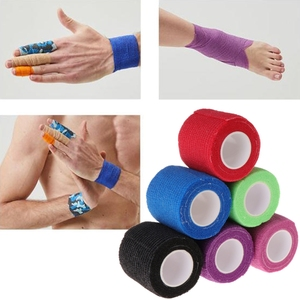 Image 2 - 6pcs Disposable Self adhesive Elastic Bandage for Handle Grip Tube Tattoo