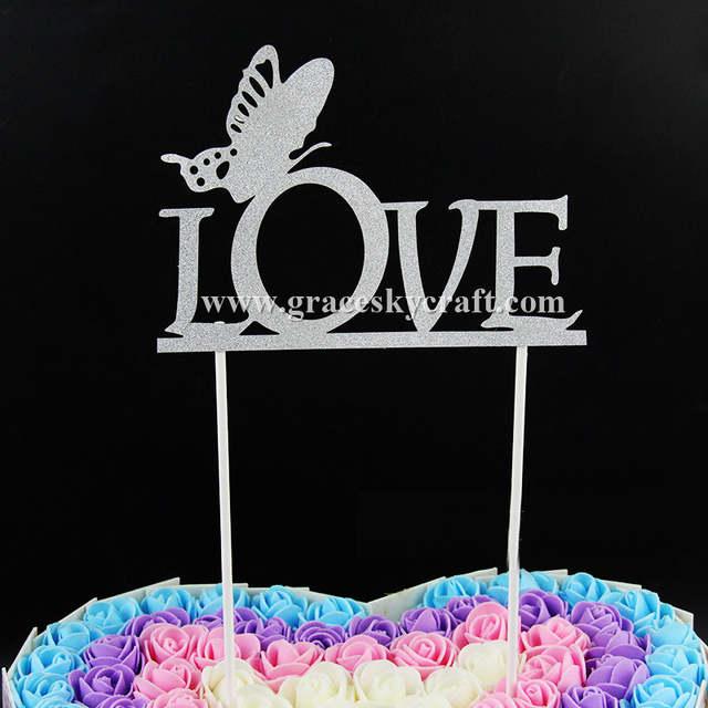 Incredible 10Pcs Free Shipping Glitter Paper Love Script Butterfly Wedding Funny Birthday Cards Online Aboleapandamsfinfo