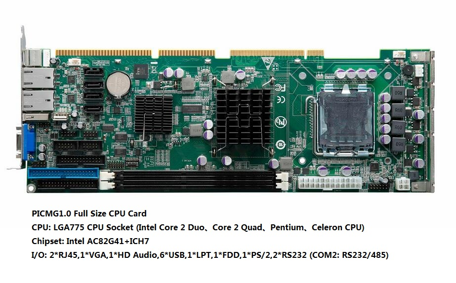 Industrial Full Size CPU Card, G41 Chipset, IPC Motherboard, LGA775 CPU, industrial full size single board computer motherboard asc386sx long cpu card industrial motherboard ipc board 100% tested perfect quality