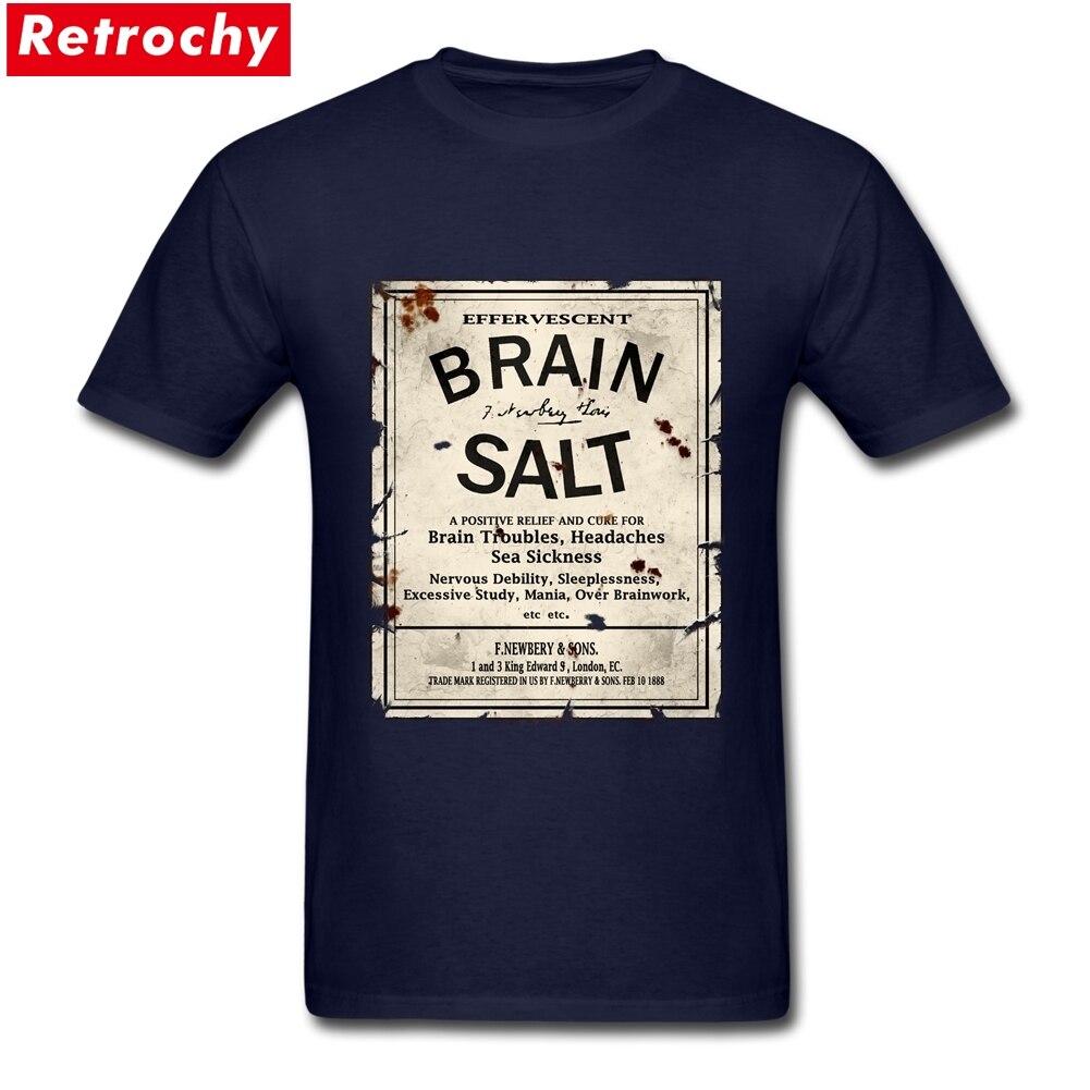 Brain Salt Merchandise T Shirts Short Sleeves Mens Cotton Big Size T-Shirt