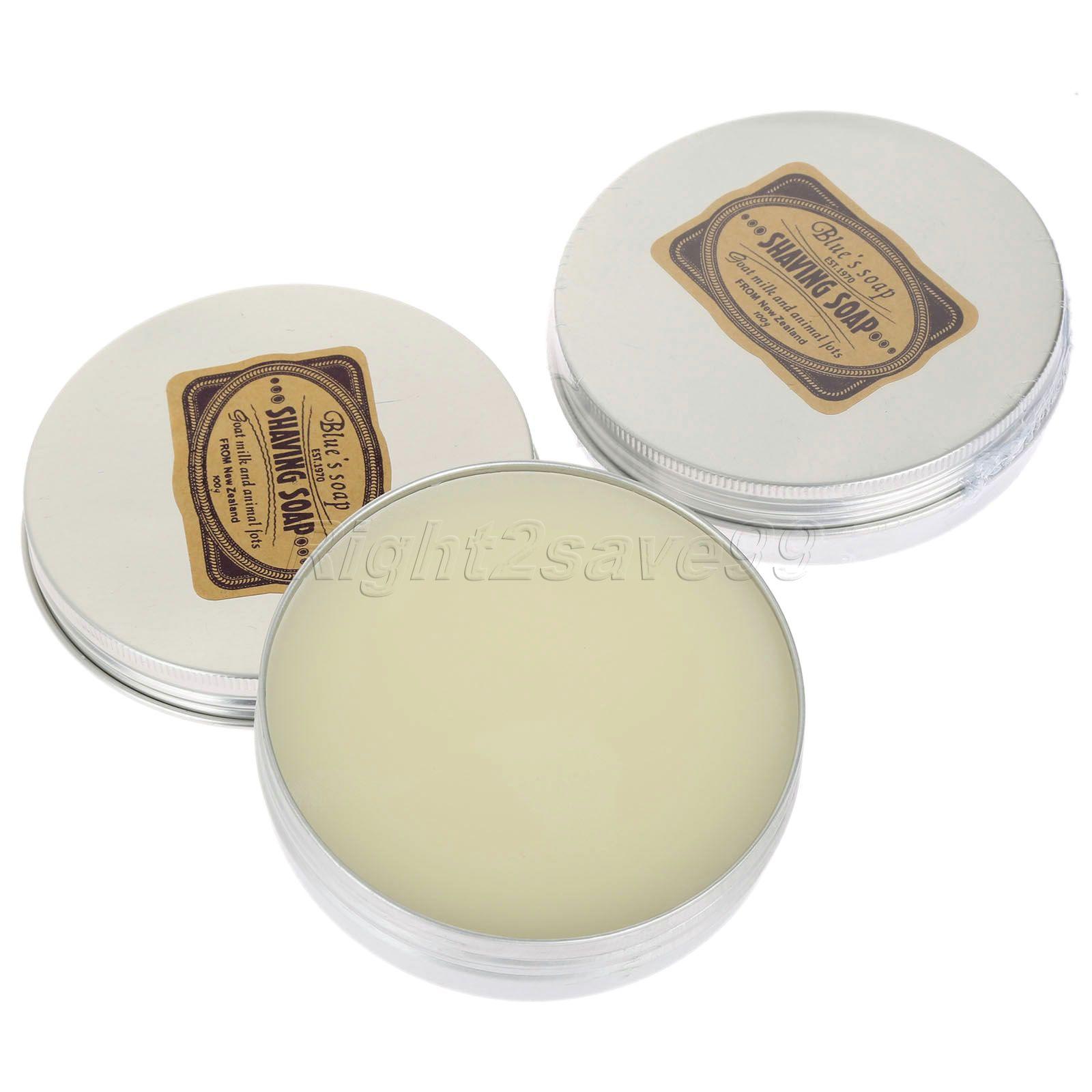 1pc Mens Rakning get mjölk tvål i fall 83mm Round Large Barber Rakning Tool Rakning Tvål Rakning Rakning Tool Produkt