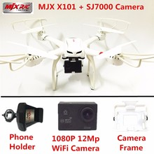 MJX X101 RC Professional Quadcopter 6-Axis Drones with SJ7000 WiFi Action Camera Drone With Camera Dron Quadrocopter VS X8W