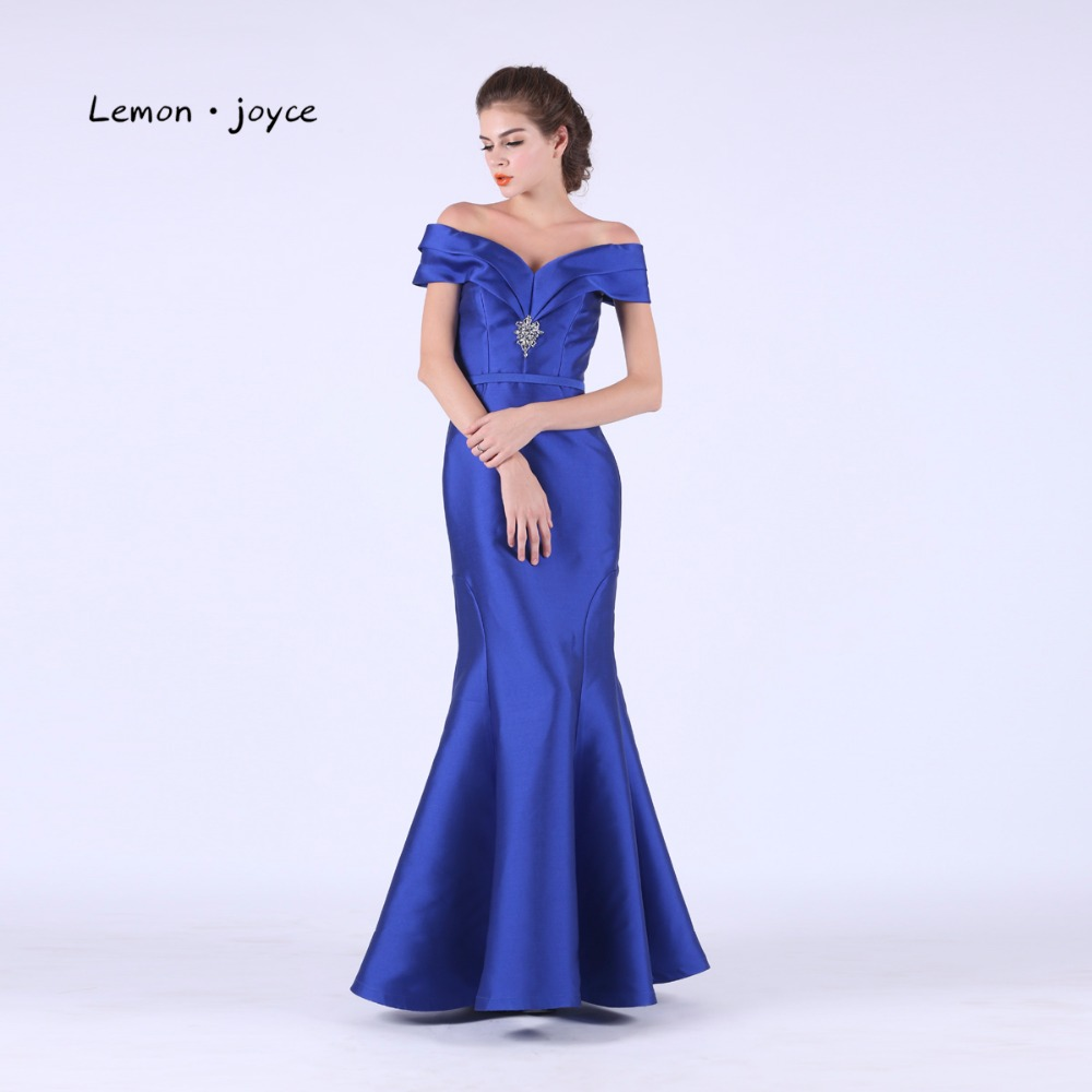 Natural Simple Elegant 2018 Blue Bridesmaid Dresses With: Royal Blue Prom Dresses Long Mermaid 2018 Elegant Off The