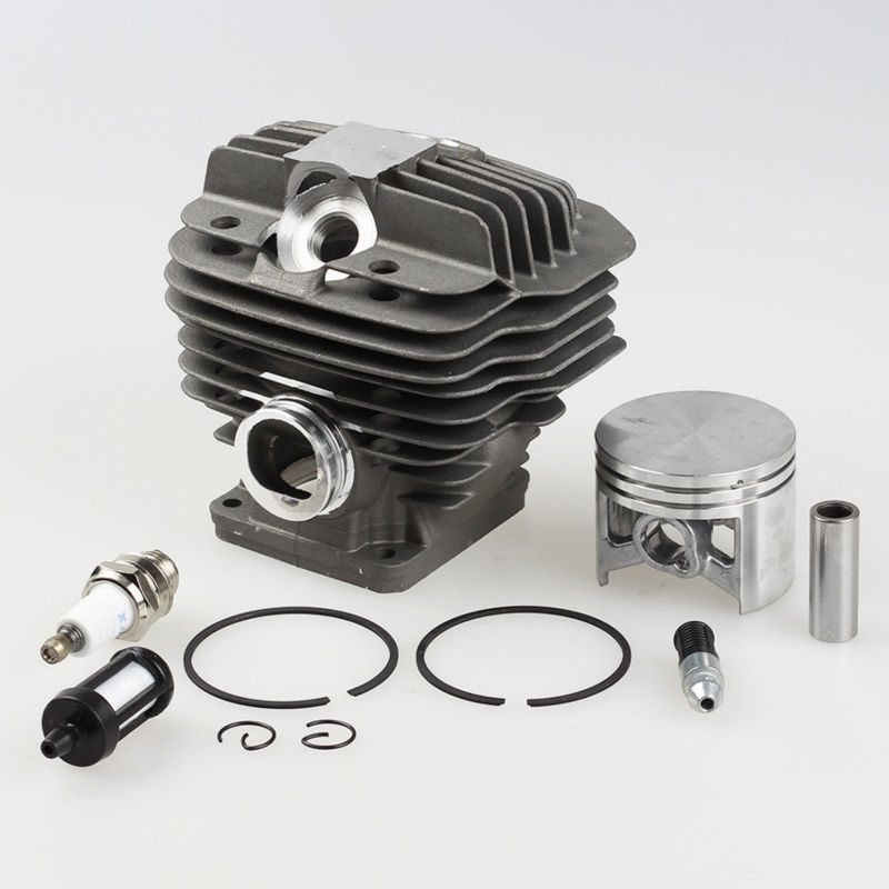 Cylinder Piston Kit +Fuel filter +Spark plug for Stihl 044 MS440 MS 440 Chainsaw Parts * 1128-020-1201 52mm cylinder piston kit fuel oil line filter for stihl 046 ms460 chainsaw