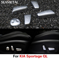 For KIA Sportage QL 2016 2017 Car Seat Switch Button Cover Adjustment ABS Chrome Interior Decoration Accessories Car-styling