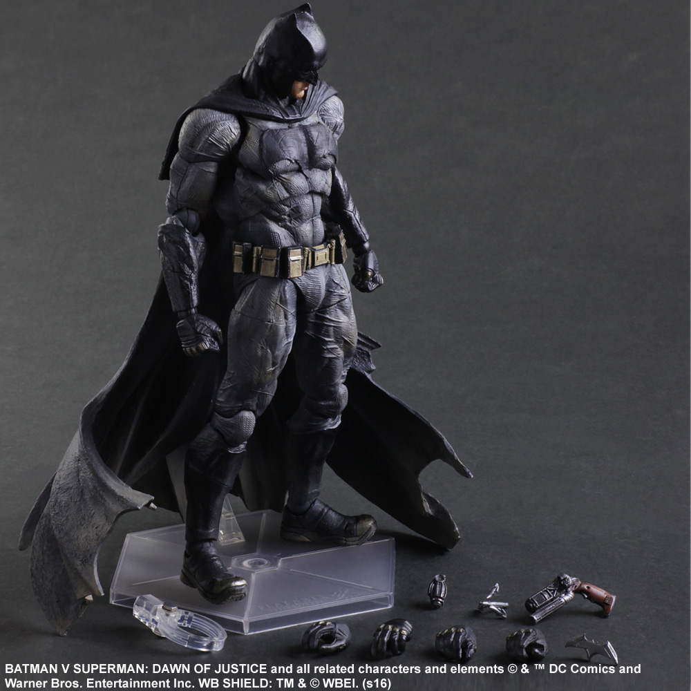 SQUARE ENIX Play Arts KAI Batman v Superman Dawn of Justice NO.1 Batman PVC Action Figure Collectible Model Toy 25cm new hot 25cm armor batman v superman dawn of justice enhanced version action figure toys collection christmas gift