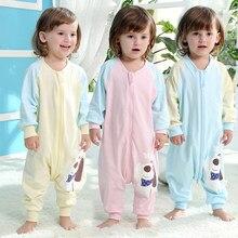 349f2833ed10 Bébé coton sac de couchage chaud épaissie de jambe anti-coup par enfants  printemps et automne section mince bébé pièce pyjamas