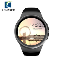 KW18 SmartWatch Men Support SIM TF Card Heart Rate Monitor Smart Watch MTK2502 Bluetooth Wearable Device for Android pk V11 KW88