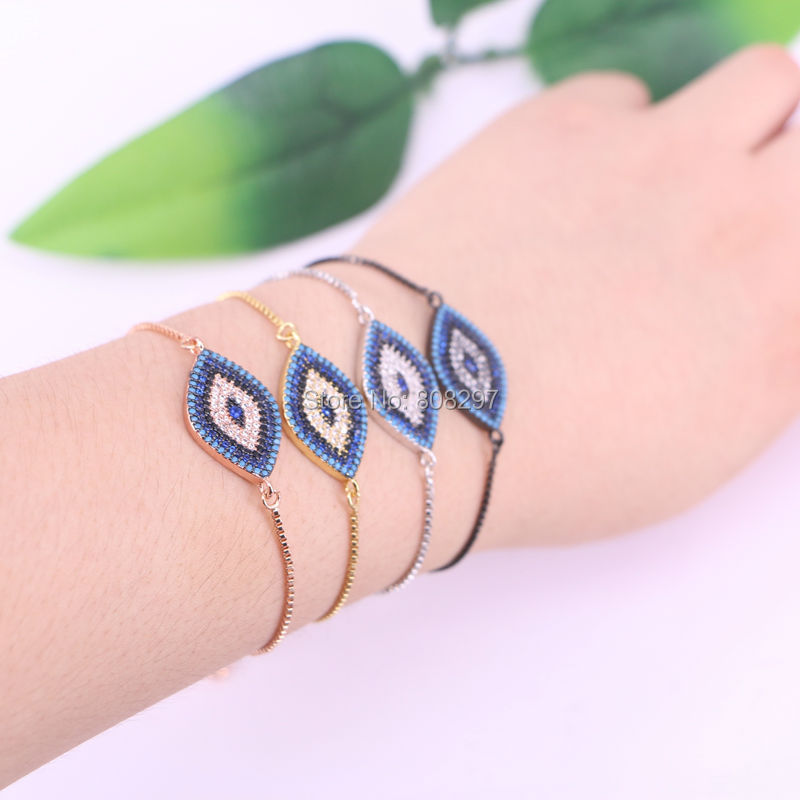10Pcs Micro Pave CZ Stones Connector Beads Charm Bracelet Fashion Jewelry Gift