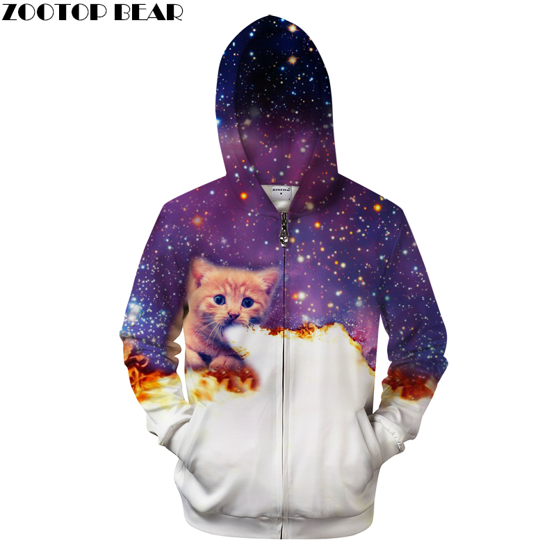 cat Lady Zip Hooded Sweatshirt