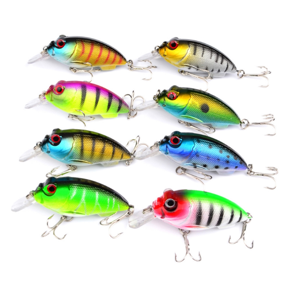 1pcs/lot crankbait fishing lure 7cm 10.2g isca artificial Pesca hard bait fishing wobblers Fishing tackle everything for fishing