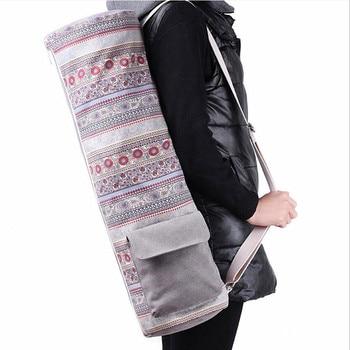 Холщовая сумка-чехол для Йоги (Weisuer/66x19 см/2 цветов) с внешним карманом