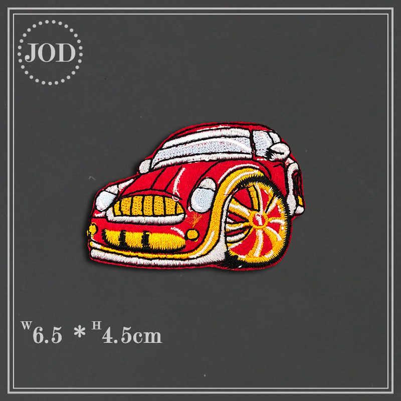 14 pièces vêtements bricolage broderie voiture Patch Applications chariot élévateur autocollants fer sur patchs pour vêtements pelle Badges Biker