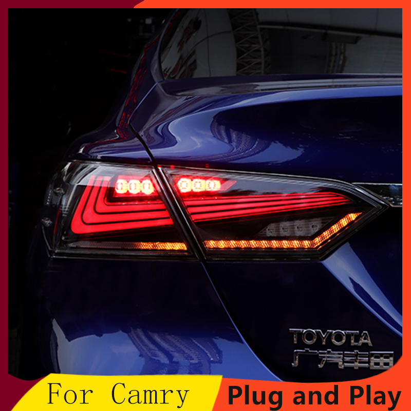 Car Taillight for 2018 Toyota Camry Taillights LED Tail Lamp Rear Lamp DRL Dynamic Turn Signal