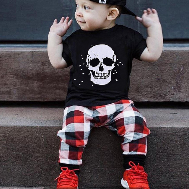 657942c3ce1a2 MUQGEW Infant Baby Boy clothing set T shirt Tops Plaid Pants Outfits 2Pcs  Set Clothes kids winter clothes jongens kleding roupas-in Clothing Sets  from ...