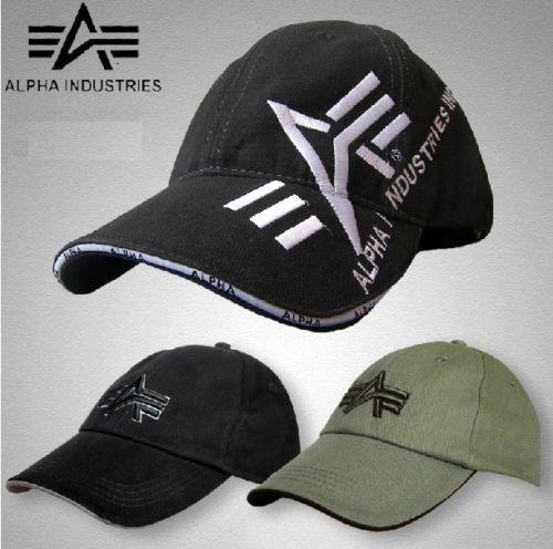 sports shoes b13f1 182e7 New ALPHA INDUSTRIES ARMY Baseball Cap/Hat ADJUSTBLE SIZE ...