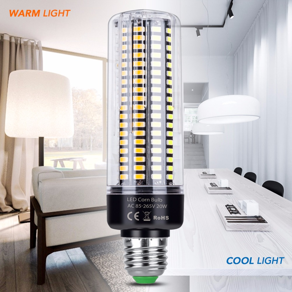 E27 <font><b>LED</b></font> Bulb Corn Lamp E14 <font><b>220V</b></font> 3.5W 5W 7W 9W 12W <font><b>15W</b></font> 20W 110V Aluminum <font><b>led</b></font> Energy saving Light Bulb Smart IC No Flicker lampada image