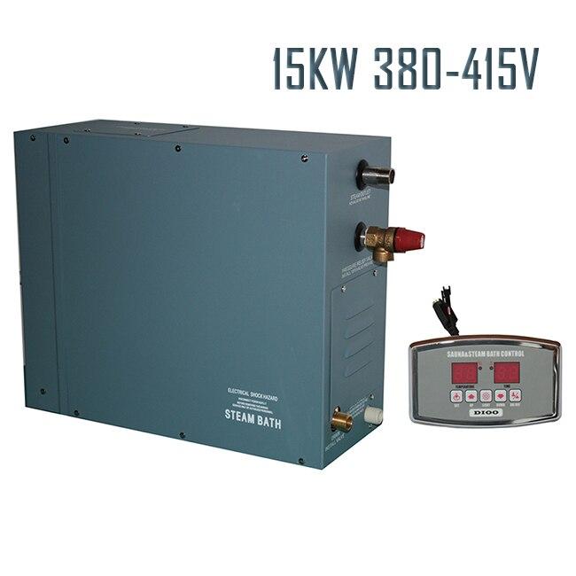 Envío gratuito 15KW380-415V50HZ generador de vapor con control DIGITAL ducha baño SAUNA hogar SPA gran POPULAR