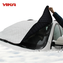 YIKA Car-styling Winter car front windshield cover For SUV Ordinary Car Sun Shade Protector Snow Windshield Cover