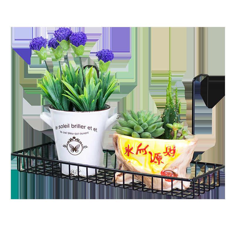 Afscherming Dekarosyon الديكور الخارجي ساسيسي البلكونة النبات حامل شرفة الجرف زهرة الحديد الرف