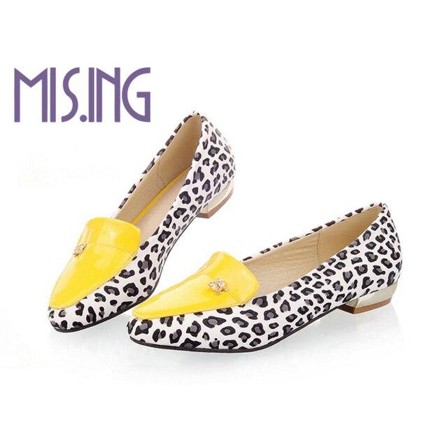 Новое прибытие женская обувь Повседневная квартиры обувь Slip-On Острым Носом мода Leopard обувь удобная весна осень обувь