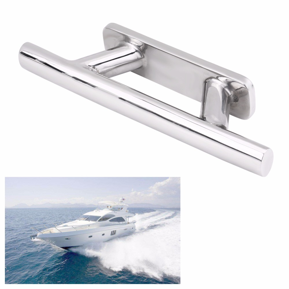 8inch 316 Stainless Steel Boat Mooring Dock Deck Rope Cleat for Marine Yacht Boat Dock Cleat