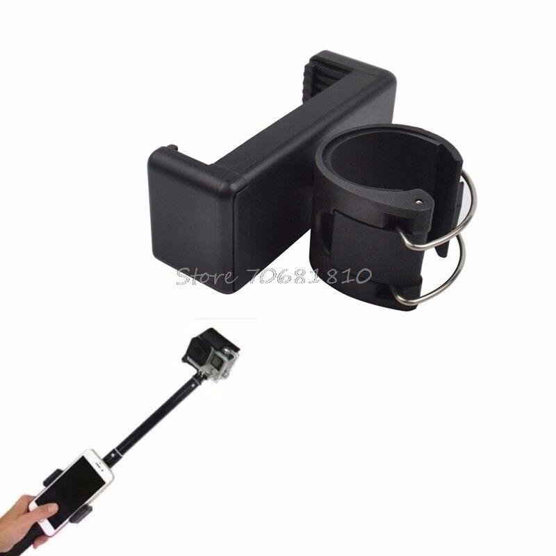 Para selfie autodisparador monopie palo de bloqueo del teléfono clip soporte par