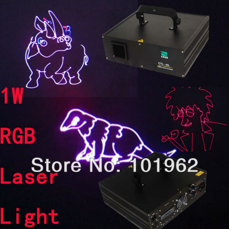 купить 1W RGB ILDA Laser Light High Power Laser Light Projector Stage laser show system with SD Card Wholesale/Retail онлайн
