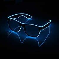Gafas intermitentes EL alambre LED gafas de fiesta brillantes suministros iluminación novedad regalo luz brillante Festival Fiesta gafas de sol resplandor
