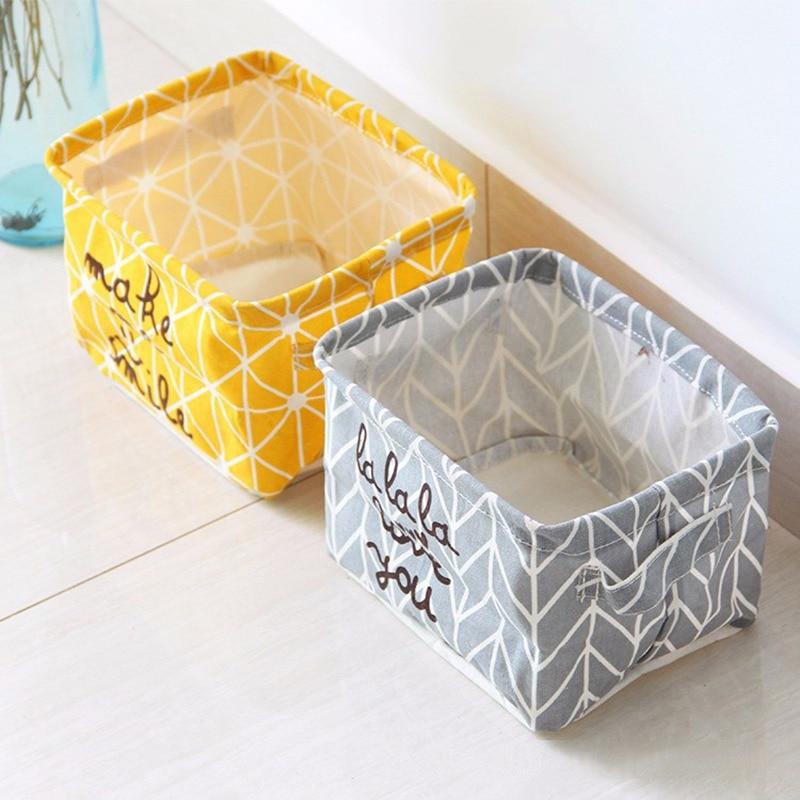 Storage Basket Boxes P-Box Fabric Laundry-Dirty Folding Bra Barrel Socks Necktie